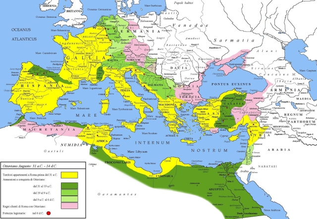 Provinces of Rome 14AD