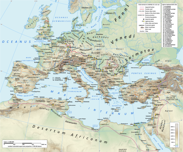 Roman Empire & Legions AD 125